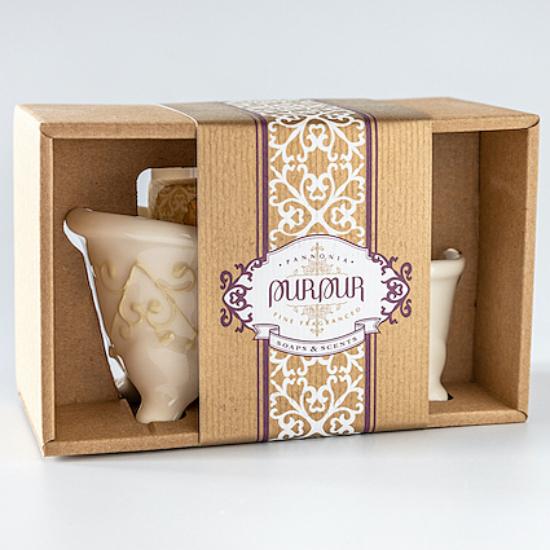 PurPur Box Kád+Szappan (Angyaloknak-téli varázslat)
