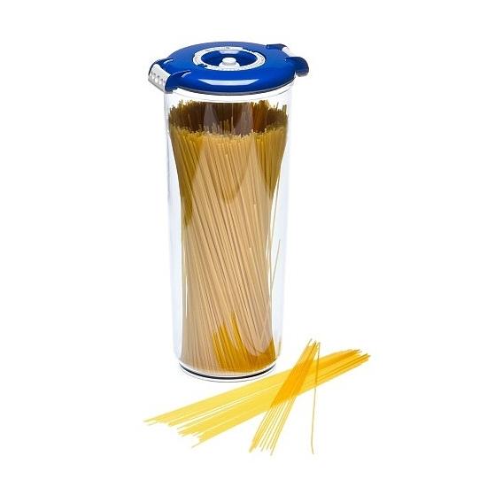 Vákuumtároló doboz, kerek (kék, 2,5 L)