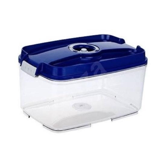 Vákuumtároló doboz, hasáb (kék, 4,5 L)