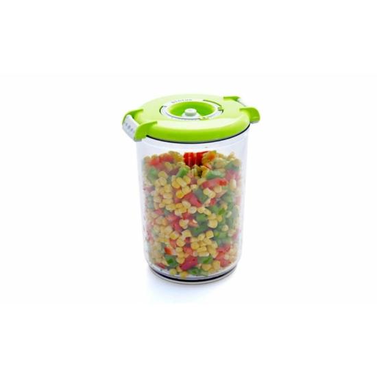 Vákuumtároló doboz, kerek (zöld, 1,5 L)