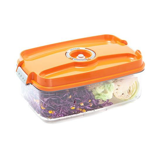 Vákuumtároló doboz, hasáb (narancs, 3,0 L)