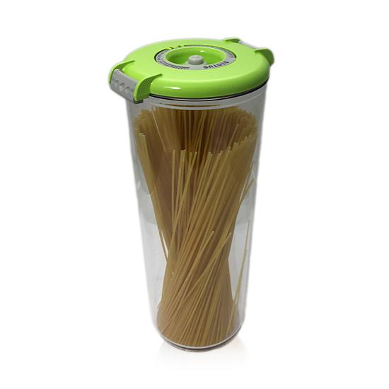 Vákuumtároló doboz, kerek (zöld, 2,5 L)