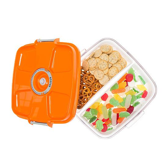 Vákuumtároló doboz, négyzet (narancs, 2,0 L)