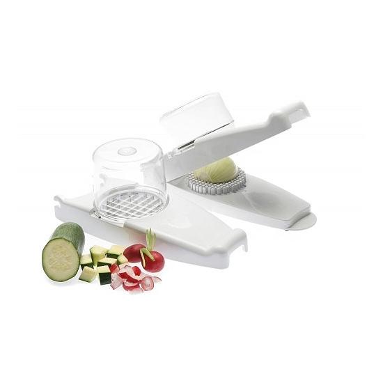 Hagyma,gyümölcs- és zöldségvágó, 5db-os (Fehér)