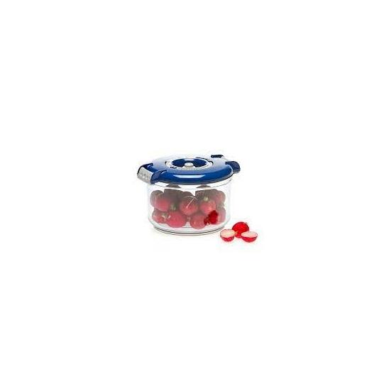 Vákuumtároló doboz, kerek (kék, 0,75 L)
