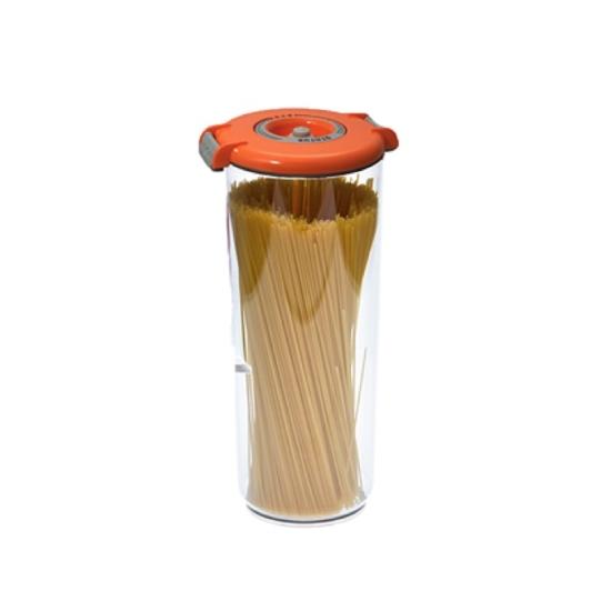 Vákuumtároló doboz, kerek (narancs, 2,5 L)
