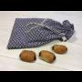Kép 2/2 - Újrazsák-Kenyeres tasak, Fiona kék