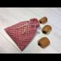 Kép 2/2 - Újrazsák-Kenyeres tasak mini, Fiona-piros