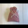 Kép 1/2 - Újrazsák-Kenyeres tasak mini, Páva-piros