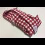 Kép 2/2 - Újraszalvéta XL - élelmiszerbiztos, Kockás-piros