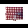 Kép 1/2 - Újraszalvéta XL - élelmiszerbiztos, Kockás-piros